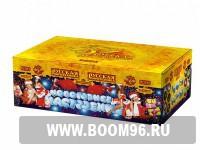 Батарея салюта Новогоднее настроение - Магазин фейерверков и салютов BOOM96.RU с бесплатной круглосуточной доставкой в Екатеринбурге!