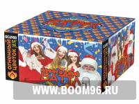 Батарея салюта Новогодний баттл (100 залпов) - Магазин фейерверков и салютов BOOM96.RU с бесплатной круглосуточной доставкой в Екатеринбурге!