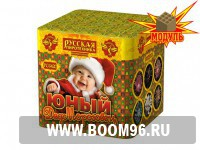 Батарея салюта  Юный дедморозовец - Магазин фейерверков и салютов BOOM96.RU с бесплатной круглосуточной доставкой в Екатеринбурге!