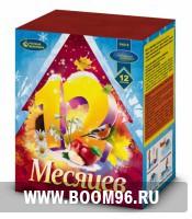 Батарея салюта 12 месяцев  (16 залпов) - Магазин фейерверков и салютов BOOM96.RU с бесплатной круглосуточной доставкой в Екатеринбурге!