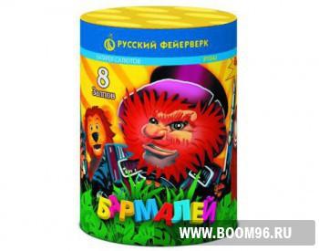 Батарея салюта Бармалей - Магазин фейерверков и салютов BOOM96.RU с бесплатной круглосуточной доставкой в Екатеринбурге!